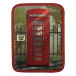 Cabina de teléfonos roja británica del vintage fundas para iPads
