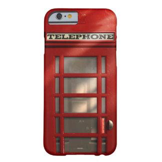 Cabina de teléfonos roja británica del vintage funda de iPhone 6 barely there