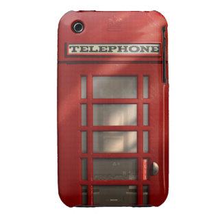 Cabina de teléfonos roja británica del vintage funda para iPhone 3