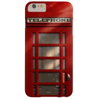Cabina de teléfonos roja británica del vintage funda para iPhone 6 plus barely there