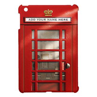 Cabina de teléfonos roja británica del vintage per iPad mini funda