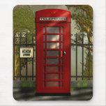 Cabina de teléfonos roja británica Mousepad Alfombrillas De Raton