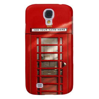 Cabina de teléfonos roja británica personalizada funda para galaxy s4