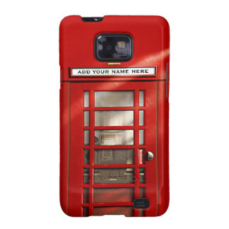 Cabina de teléfonos roja británica personalizada galaxy SII carcasa