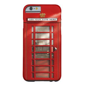 Cabina de teléfonos roja británica personalizada funda de iPhone 6 barely there