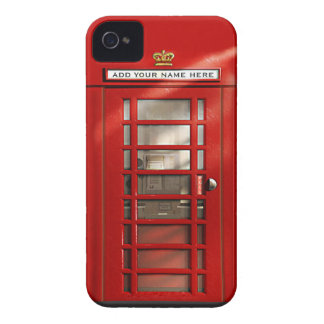 Cabina de teléfonos roja británica personalizada Case-Mate iPhone 4 protector