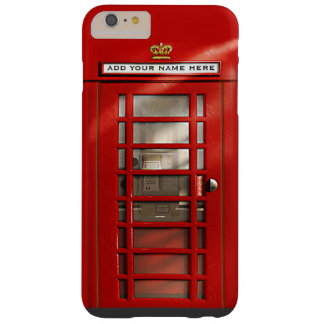 Cabina de teléfonos roja británica personalizada funda barely there iPhone 6 plus