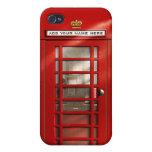 Cabina de teléfonos roja británica personalizada iPhone 4 coberturas