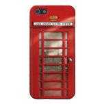 Cabina de teléfonos roja británica personalizada iPhone 5 carcasas