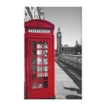 Cabina de teléfonos roja de Big Ben Impresión De Lienzo