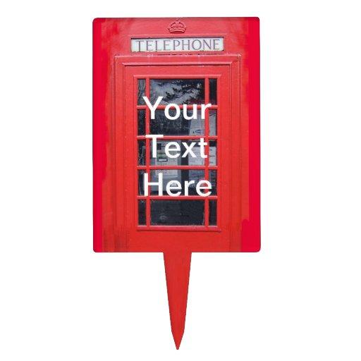 Cabina de teléfonos roja de Londres Decoraciones Para Tartas