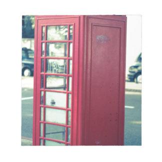 Cabina de teléfonos roja de Londres Bloc De Papel