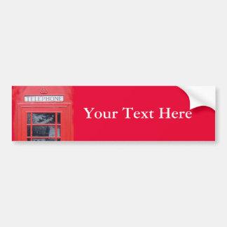 Cabina de teléfonos roja de Londres Pegatina De Parachoque