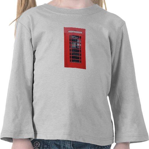 Cabina de teléfonos roja de Londres Camisetas