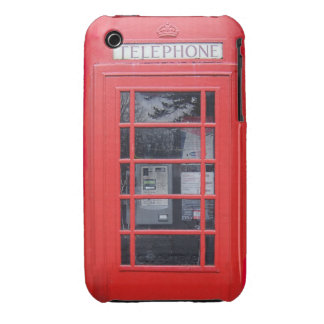 Cabina de teléfonos roja de Londres Carcasa Para iPhone 3