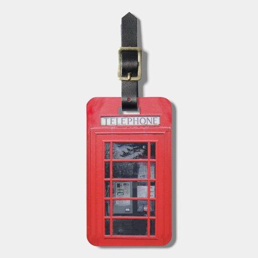 Cabina de teléfonos roja de Londres Etiqueta Para Maleta