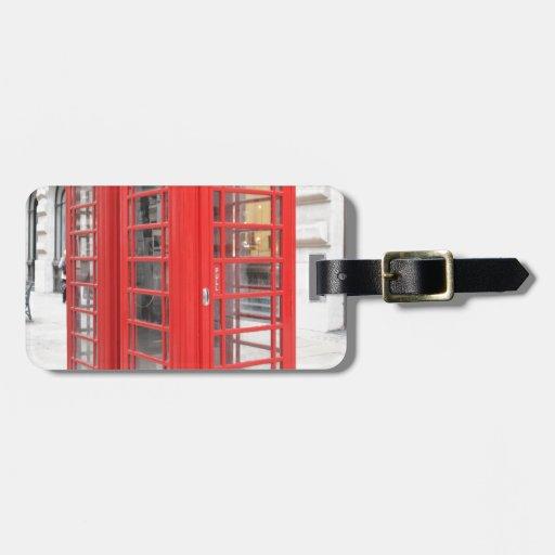 Cabina de teléfonos roja de Londres Etiquetas Maleta