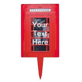 Cabina de teléfonos roja de Londres Figura De Tarta
