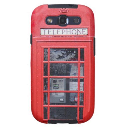 Cabina de teléfonos roja de Londres Galaxy S3 Cobertura