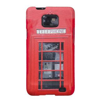 Cabina de teléfonos roja de Londres Galaxy S2 Funda