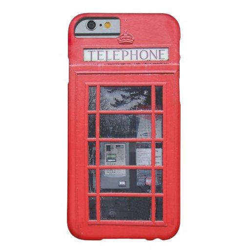 Cabina de teléfonos roja de Londres Funda De iPhone 6 Barely There
