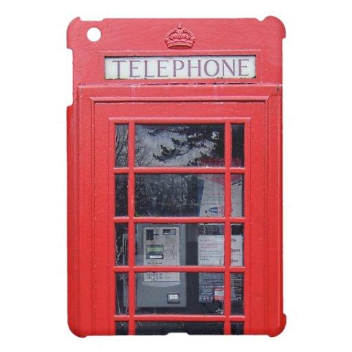 Cabina de teléfonos roja de Londres iPad Mini Protectores