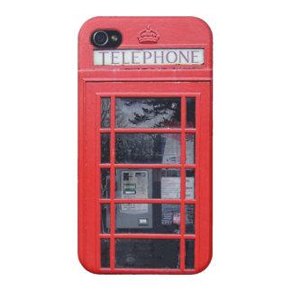 Cabina de teléfonos roja de Londres iPhone 4 Carcasas