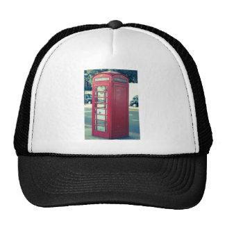 Cabina de teléfonos roja de Londres Gorros Bordados