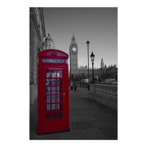 Cabina de teléfonos roja de Londres Impresiones
