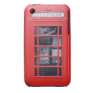 Cabina de teléfonos roja de Londres iPhone 3 Cárcasas