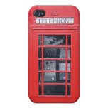 Cabina de teléfonos roja de Londres iPhone 4 Funda
