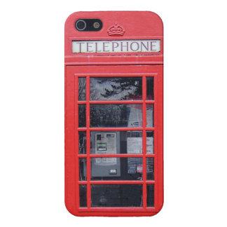 Cabina de teléfonos roja de Londres iPhone 5 Carcasas