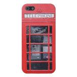 Cabina de teléfonos roja de Londres iPhone 5 Funda