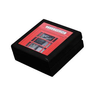 Cabina de teléfonos roja de Londres Cajas De Joyas