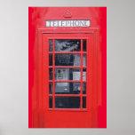 Cabina de teléfonos roja de Londres Posters