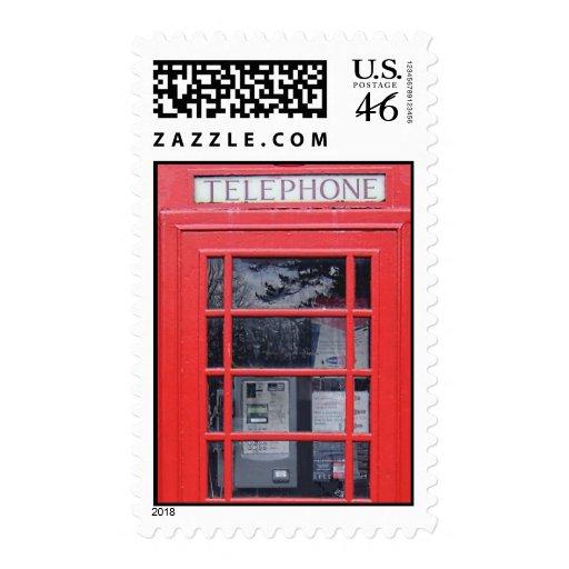 Cabina de teléfonos roja de Londres Franqueo