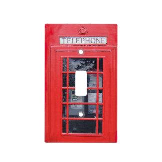 Cabina de teléfonos roja de Londres Cubiertas Para Interruptor