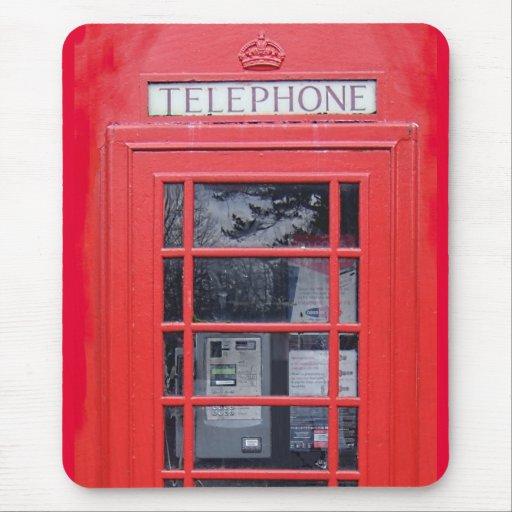 Cabina de teléfonos roja de Londres Alfombrilla De Ratón