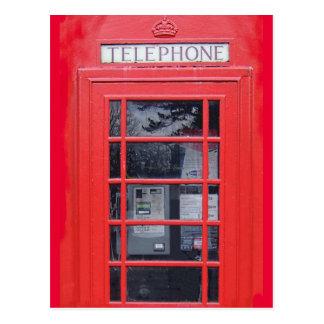 Cabina de teléfonos roja de Londres Tarjetas Postales