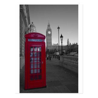 Cabina de teléfonos roja de Londres Postal