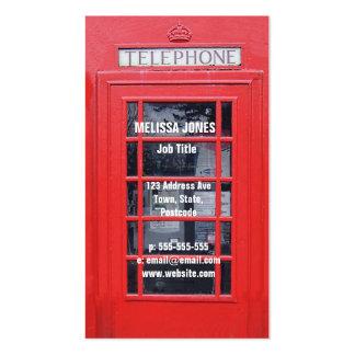 Cabina de teléfonos roja de Londres Tarjetas De Visita