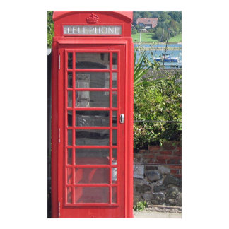 Cabina de teléfonos roja  papeleria de diseño