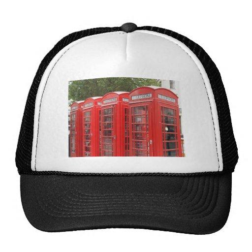 Cabina de teléfonos roja tradicional Londres Gorros