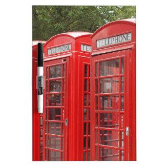 Cabina de teléfonos roja tradicional Londres Pizarra