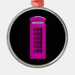 Cabina de teléfonos rosada de Londres Ornato