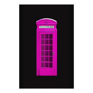 Cabina de teléfonos rosada de Londres Papeleria De Diseño