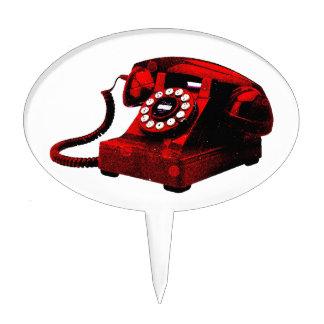 Cabina de teléfonos vieja del escritorio del arte figuras para tartas