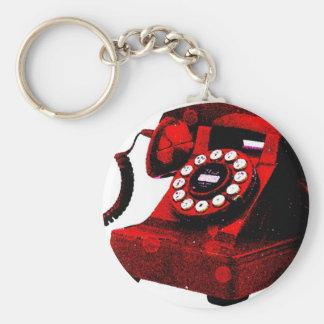 Cabina de teléfonos vieja del escritorio del arte llaveros