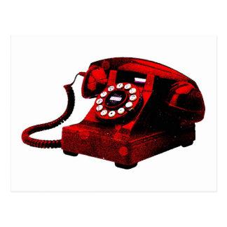Cabina de teléfonos vieja del escritorio del arte  postales