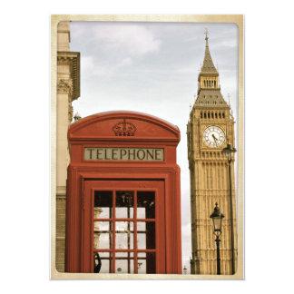 Cabina de teléfonos y torre de Big Ben Invitaciones Personales